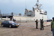 ESPS RAYO - official reception in Conakry port